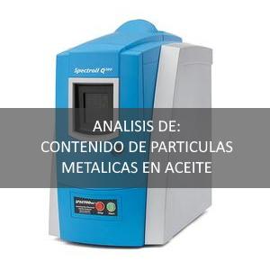 Determinación de partículas metálicas