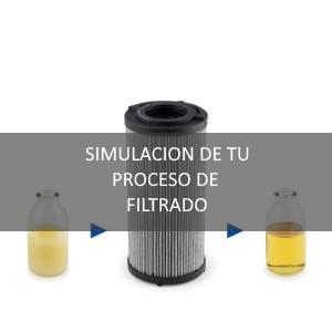 Simulación de proceso de filtrado