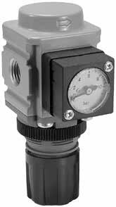 Regulador de aire, con manómetro 0-10 bar: G1/4. 1920 lN/M