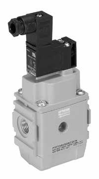 Electrovalvula modular aire con arranque suave: G1/4, 24 VDC (con solenoide). 1020 lN/M. Pmax: 10bar.